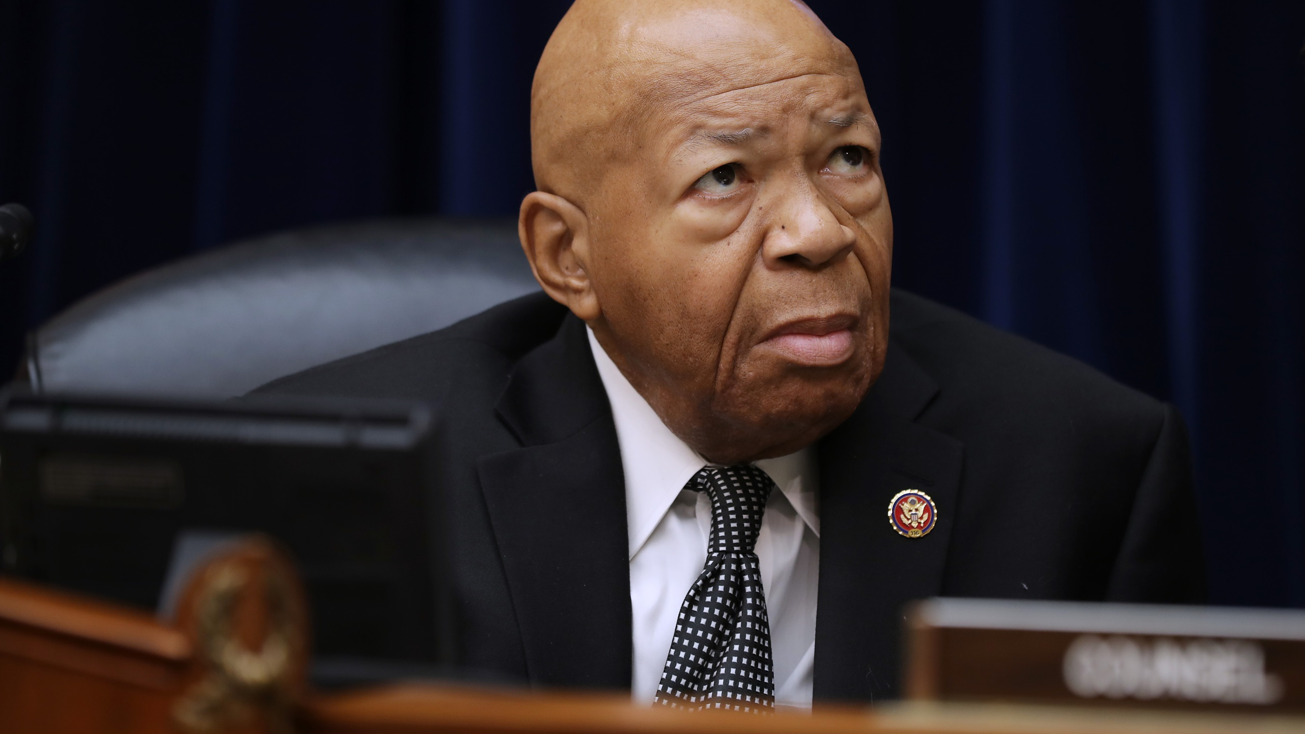 House Oversight and Government Reform Committee Chairman Elijah Cummings (D-MD) prepares for a hearing on on July 26, 2019. (Credit: Chip Somodevilla/Getty Images)