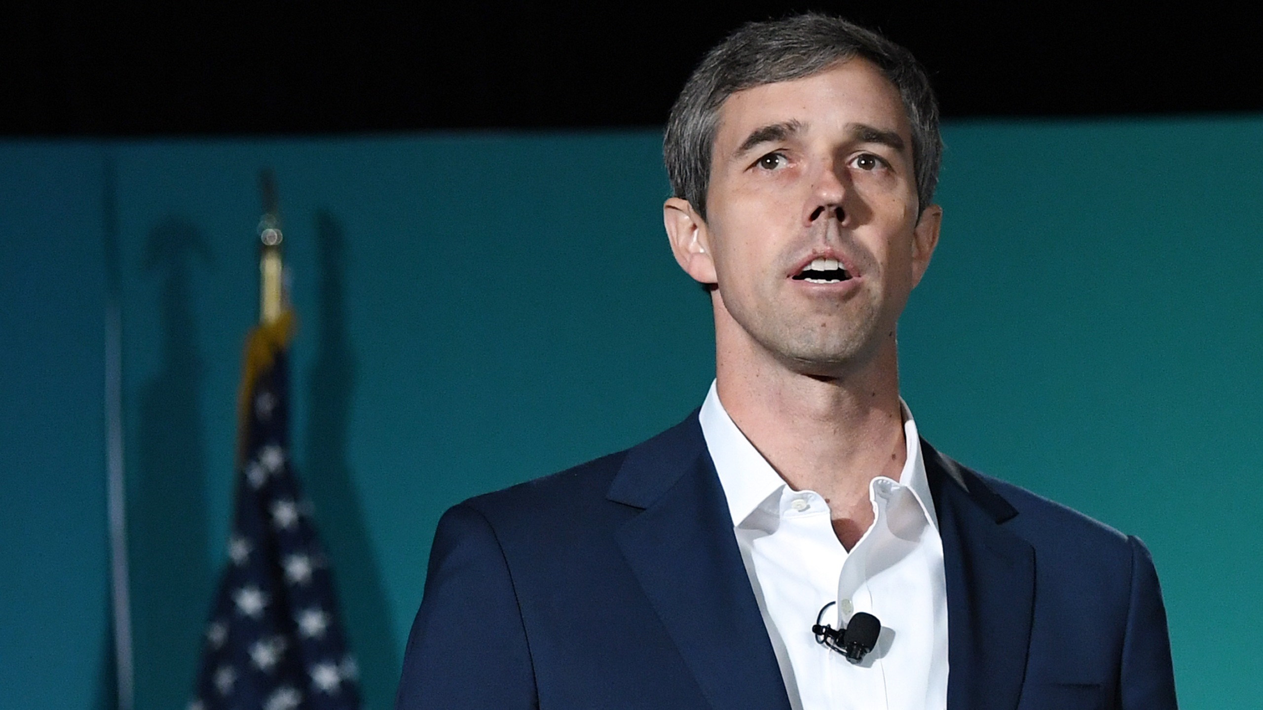 Democratic presidential candidate Beto O'Rourke speaks during the 2020 Public Service Forum hosted by the American Federation of State, County and Municipal Employees (AFSCME) at UNLV on Aug. 3, 2019, in Las Vegas, Nevada. (Credit: Ethan Miller/Getty Images)