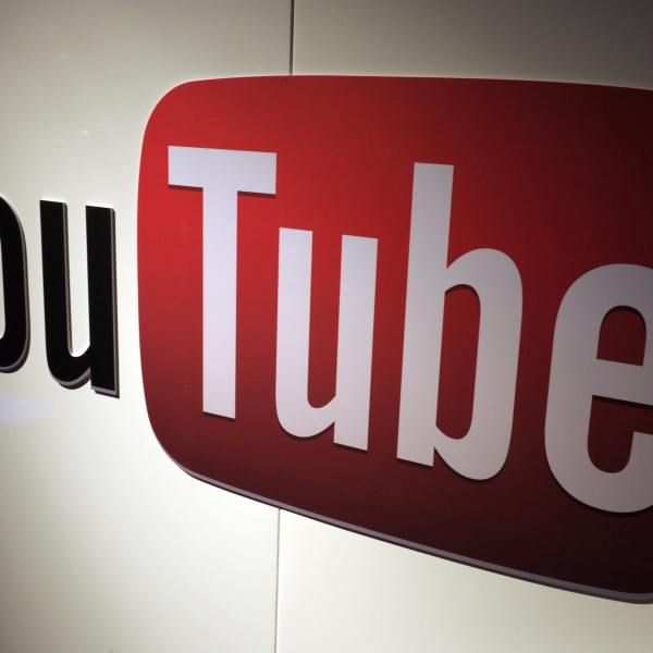 A picture shows a YouTube logo on Dec. 4, 2012, in Paris. (Credit: Eric Piermont /AFP/Getty Images)