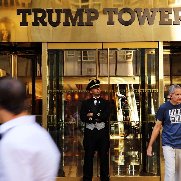 The Trump Tower building is on 5th Avenue is seen on July 22, 2015, in New York City. (Credit: Spencer Platt/Getty Images)
