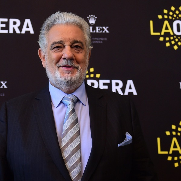 Opera star Placido Domingo poses during a Q & A session with the media on May 15, 2014 in Los Angeles, California, ahead of this weekend's conclusion of the LA Opera's 2014/15 season. (Credit: FREDERIC J. BROWN/AFP/Getty Images)