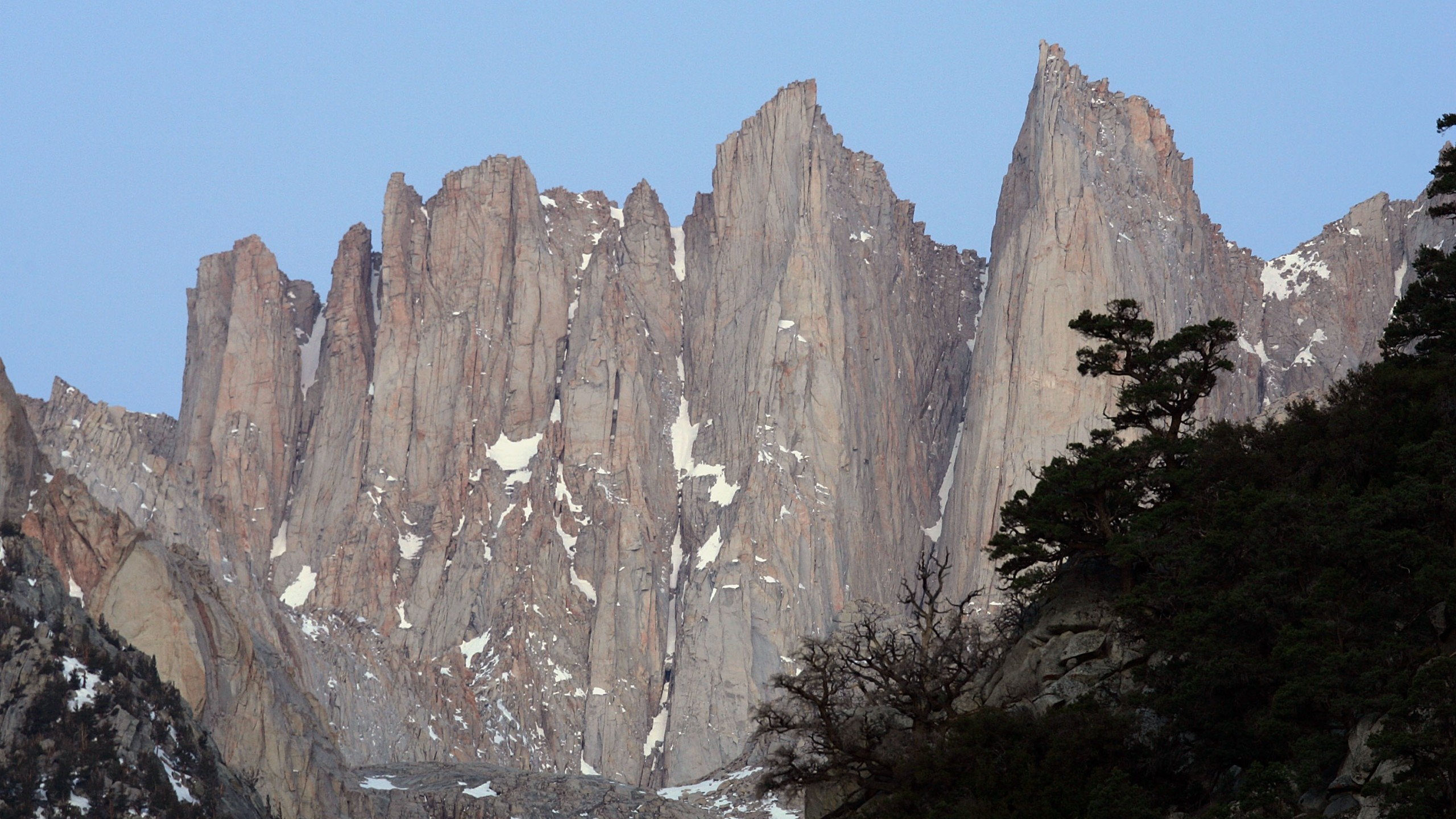 Pinnacles rise from the crest just south of Mount Whitney on May 9, 2008, near Lone Pine, California. (Credit: David McNew/Getty Images)