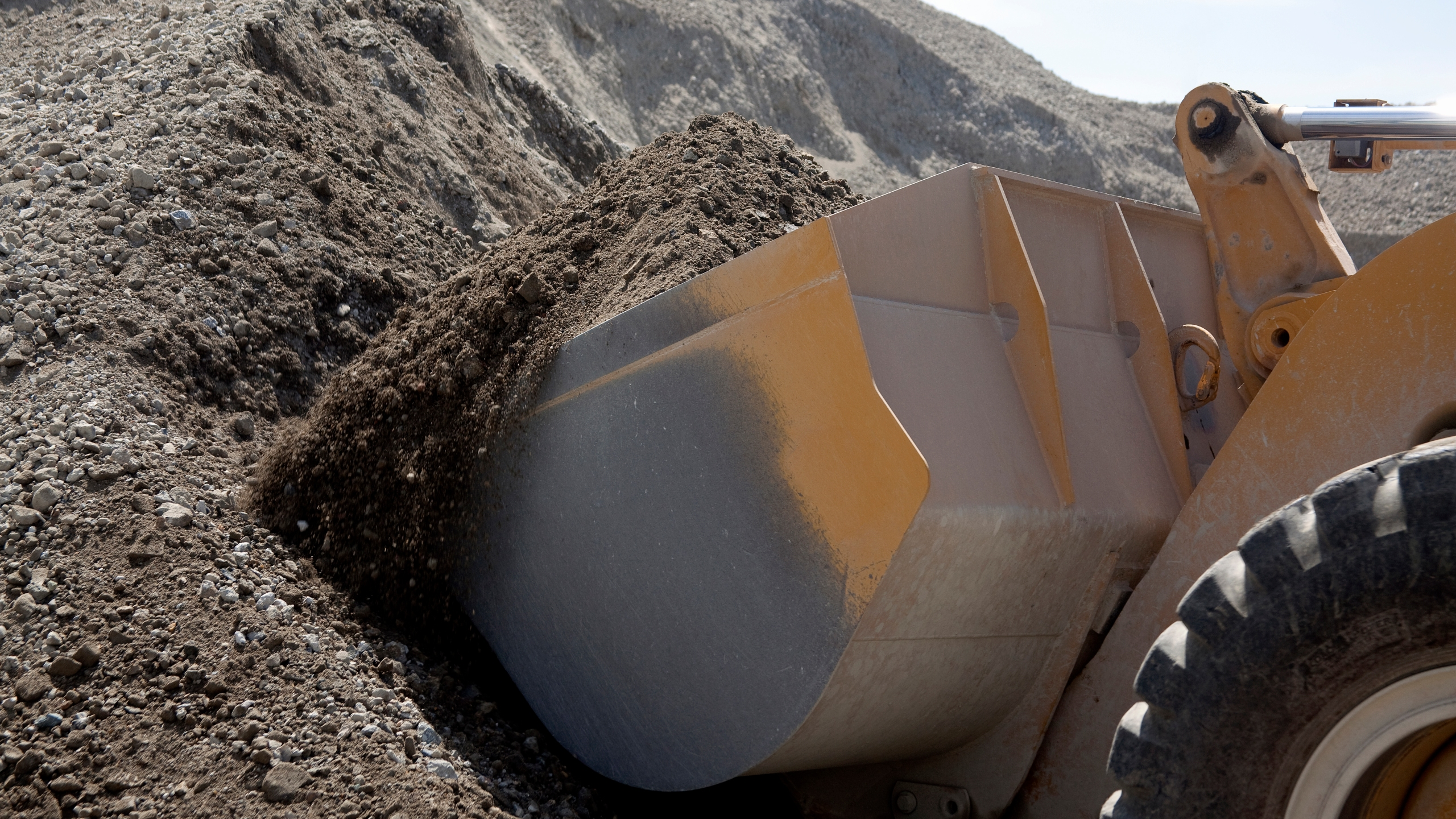 This file image shows a bull dozer. (Credit: Getty Images)