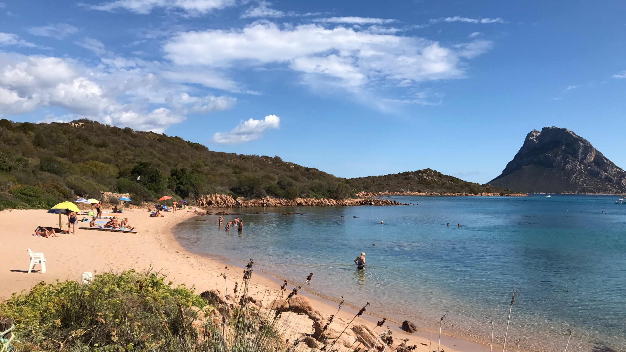 A secluded beach in Porto San Paolo on the eastern coast of the Italian island of Sardinia is seen on September 18, 2017. (Credit: DANIEL SLIM/AFP/Getty Images)