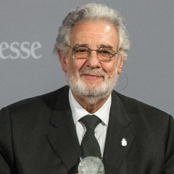 """Spanish Opera singer Placido Domingo receives the """"People in Europe Arts Award"""" at a ceremony in Passau, southern Germany on November 28, 2017.(Credit: ARMIN WEIGEL/AFP/Getty Images)"""