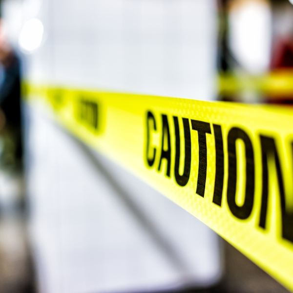Caution tape is seen in a file photo. (Credit: Getty Images)