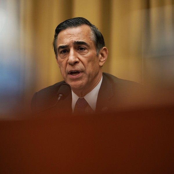 Rep. Darrell Issa speaks during a hearing before the House Judiciary Committee on June 28, 2018. (Credit: Alex Wong / Getty Images)
