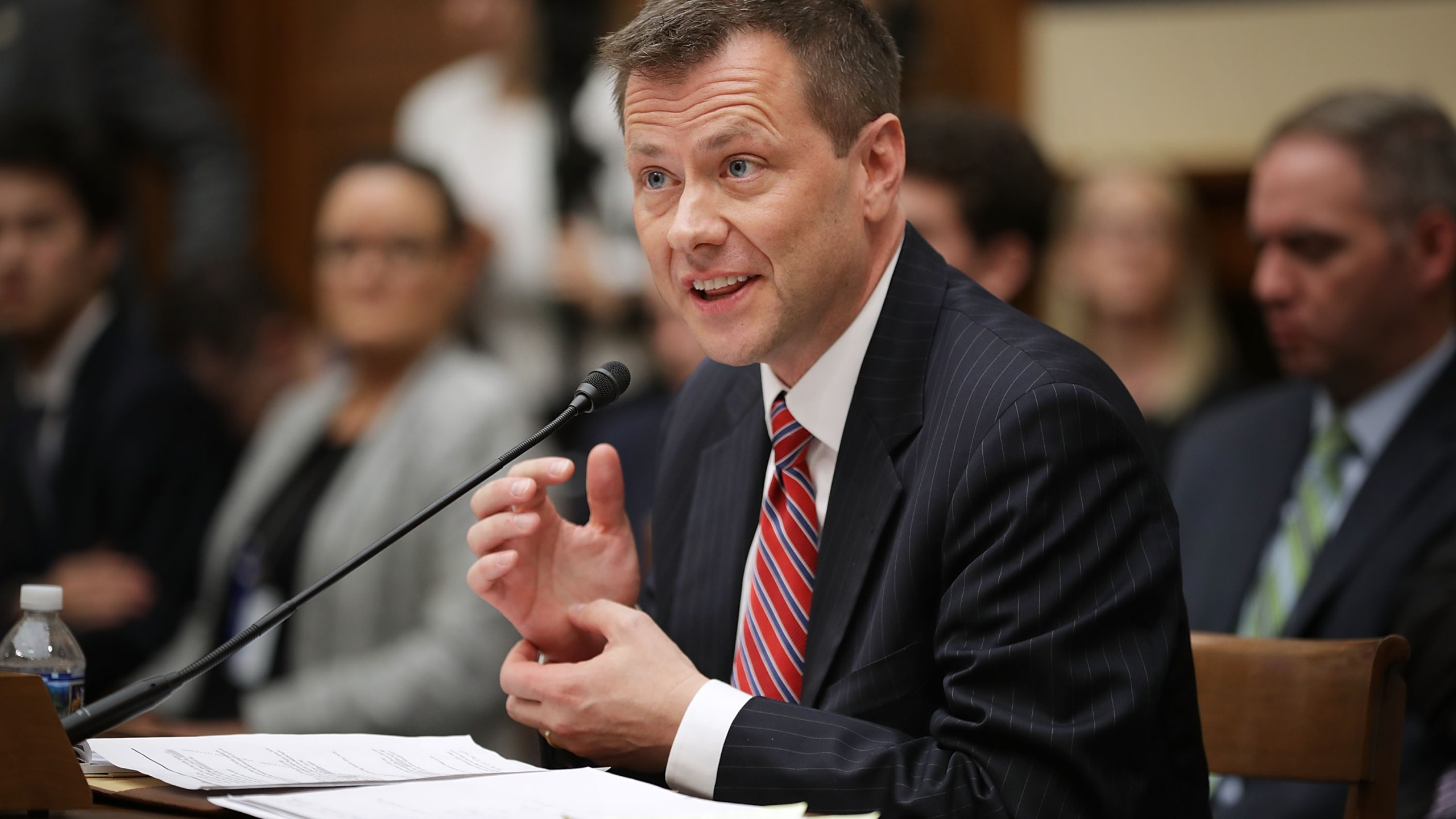 Deputy Assistant FBI Director Peter Strzok testifies before a joint committee hearing of the House Judiciary and Oversight and Government Reform committees in the Rayburn House Office Building on Capitol Hill July 12, 2018, in Washington, D.C. (Credit: Chip Somodevilla/Getty Images)