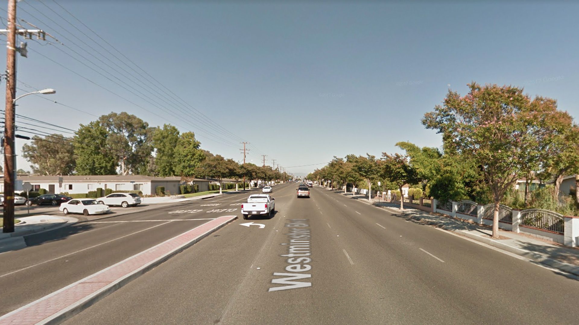 The 9600 block of Westminster Boulevard in Garden Grove, as viewed in a Google Street View.