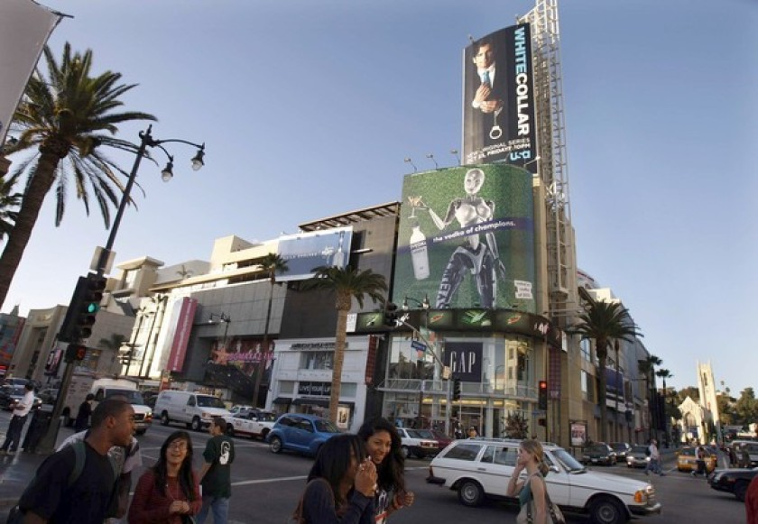 The Hollywood & Highland center is shown in an undated photo. (Credit: Christine Cotter / Los Angeles Times)