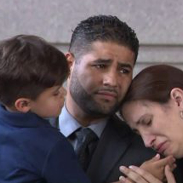 Juan Rodriguez appears with his family in a New York City courtroom on Aug. 1, 2019.(Credit: WPIX)