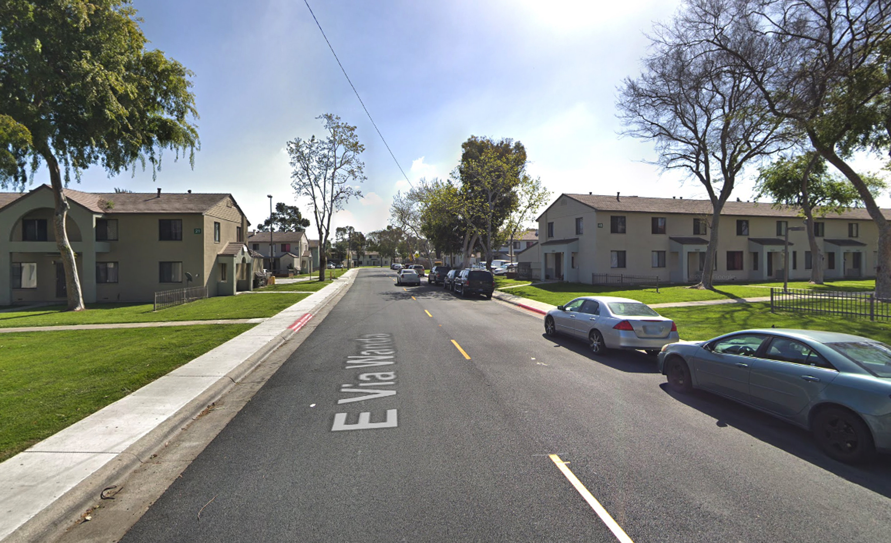 The 900 block of East Via Wanda in Long Beach, as viewed in a Google Street View image.