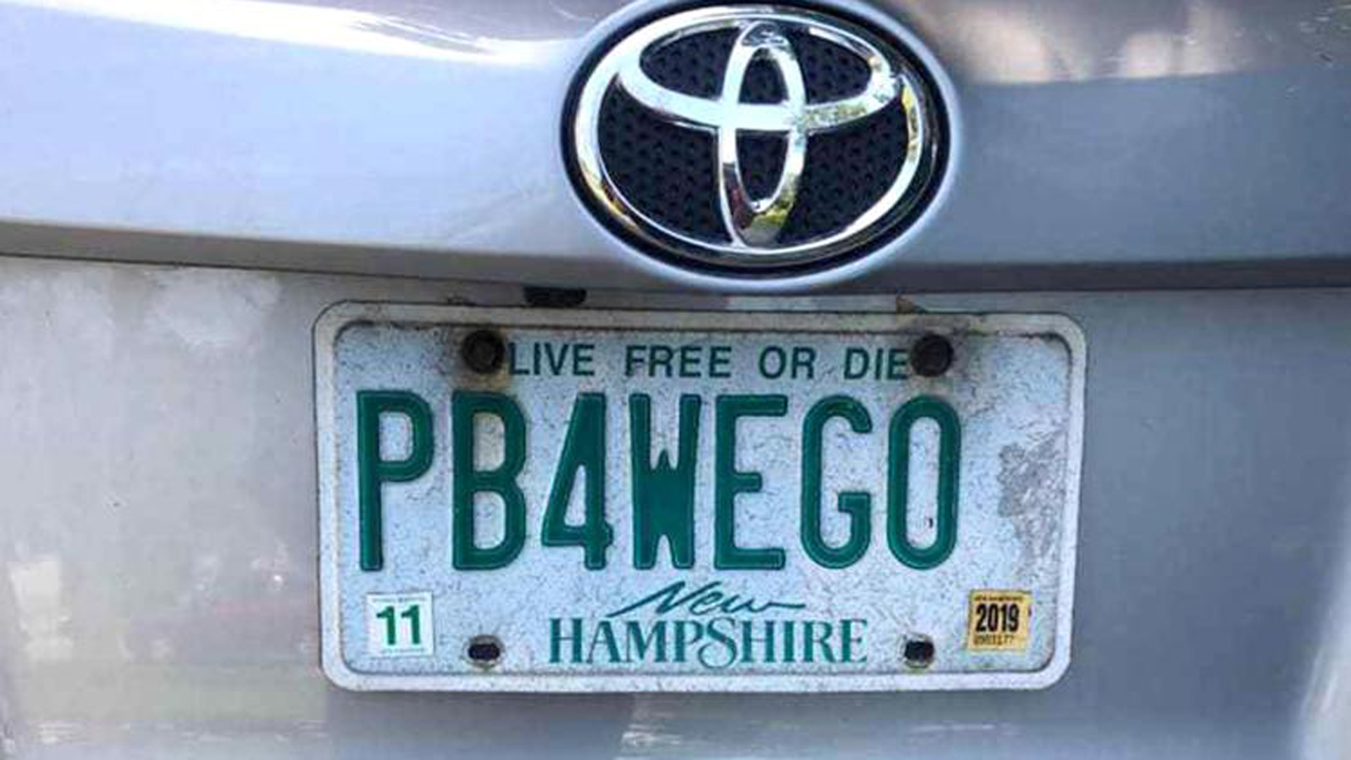 "Wendy Auger successfully fought to keep the ""PB4WEGO"" license plate. (Credit: Wendy Auger via CNN)"
