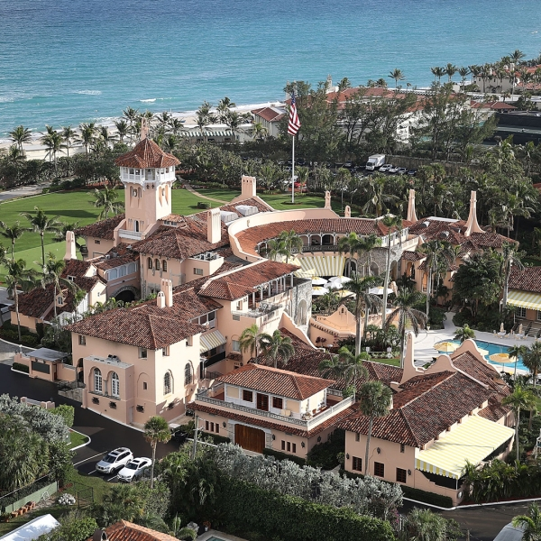 President Donald Trump's beach front Mar-a-Lago resort, also sometimes called his Winter White House, is seen in January 2018. (Credit: Joe Raedle/Getty Images)