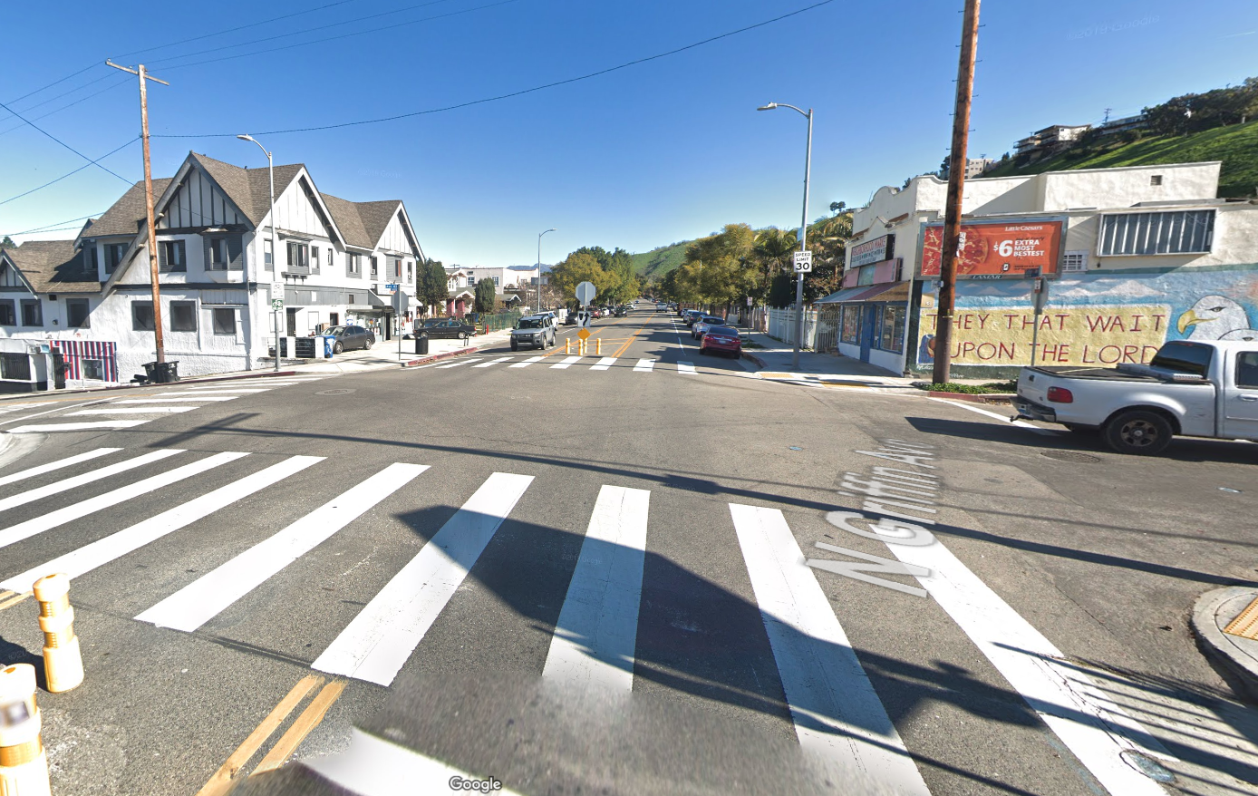 Griffin Avenue near Avenue 43 in Montecito Heights is seen in a Google Maps image.