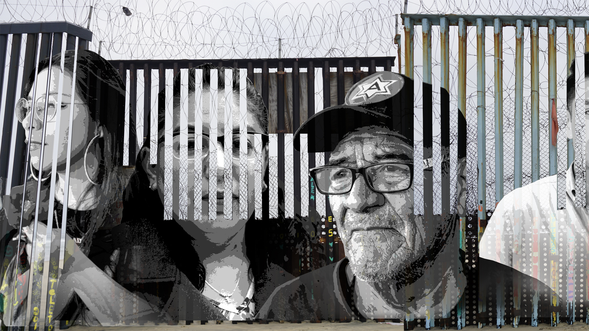 An interactive border wall project in Tijuana in August 2019 tells the stories of deported individuals. (Credit: Lizbeth De La Cruz Santana)