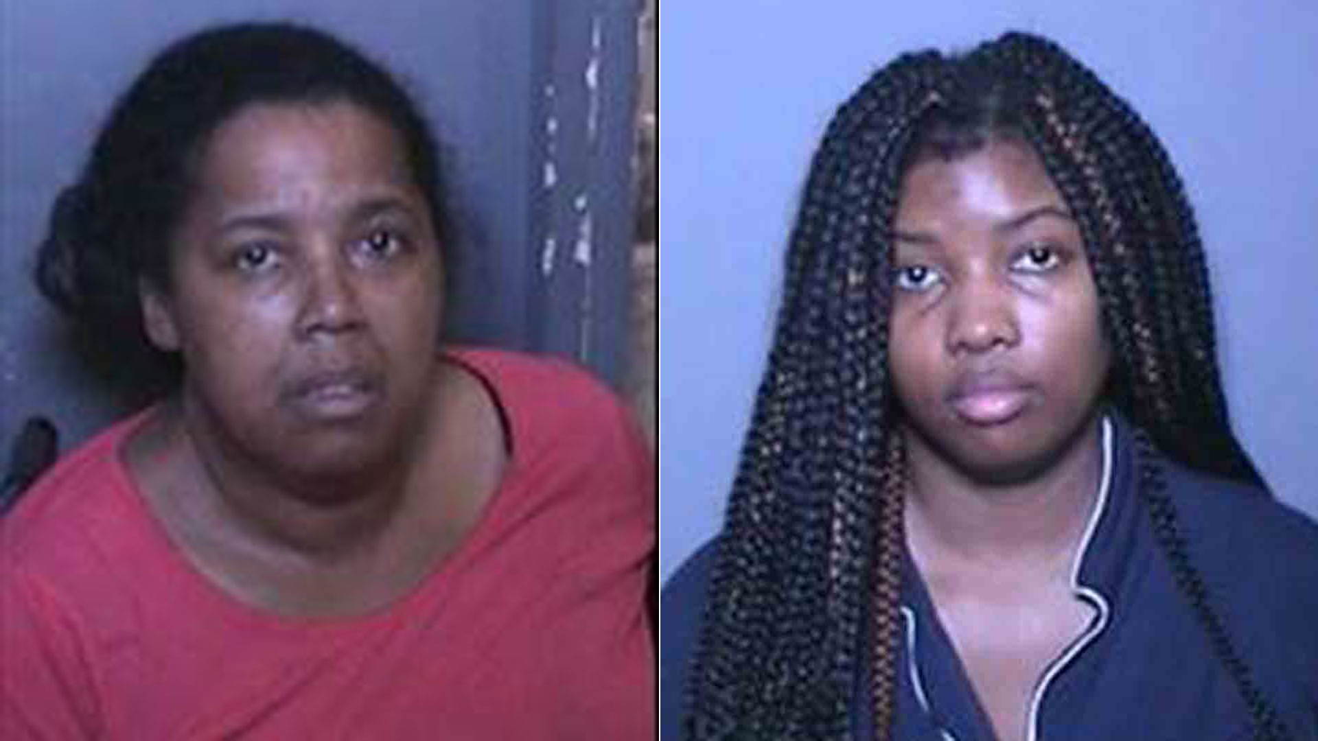 Errica Mickens left, and Brittany Mickens, right are seen in photos released by the Orange County District Attorney's Office.