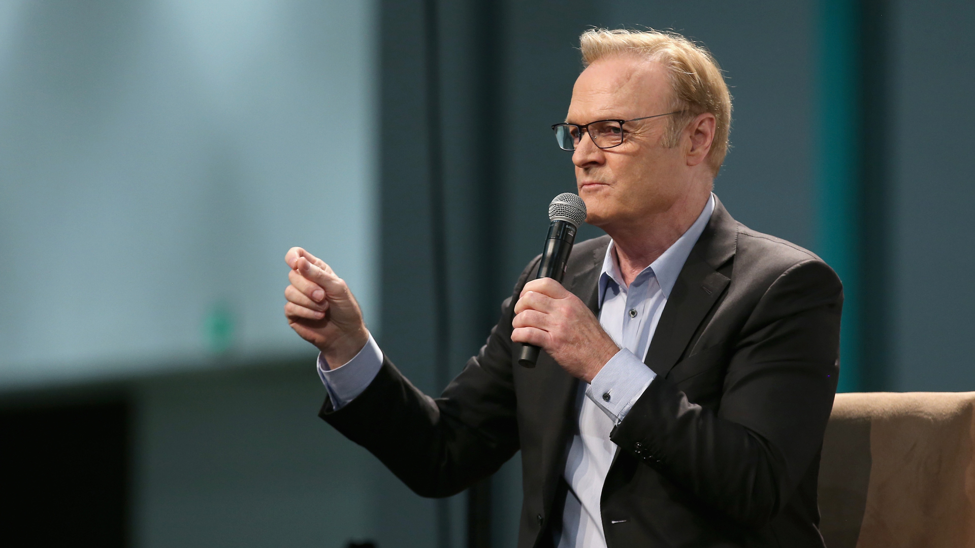 Lawrence O'Donnell speaks onstage during Politicon 2018 at Los Angeles Convention Center on October 20, 2018 in Los Angeles, California. (Credit: Phillip Faraone/Getty Images for Politicon)