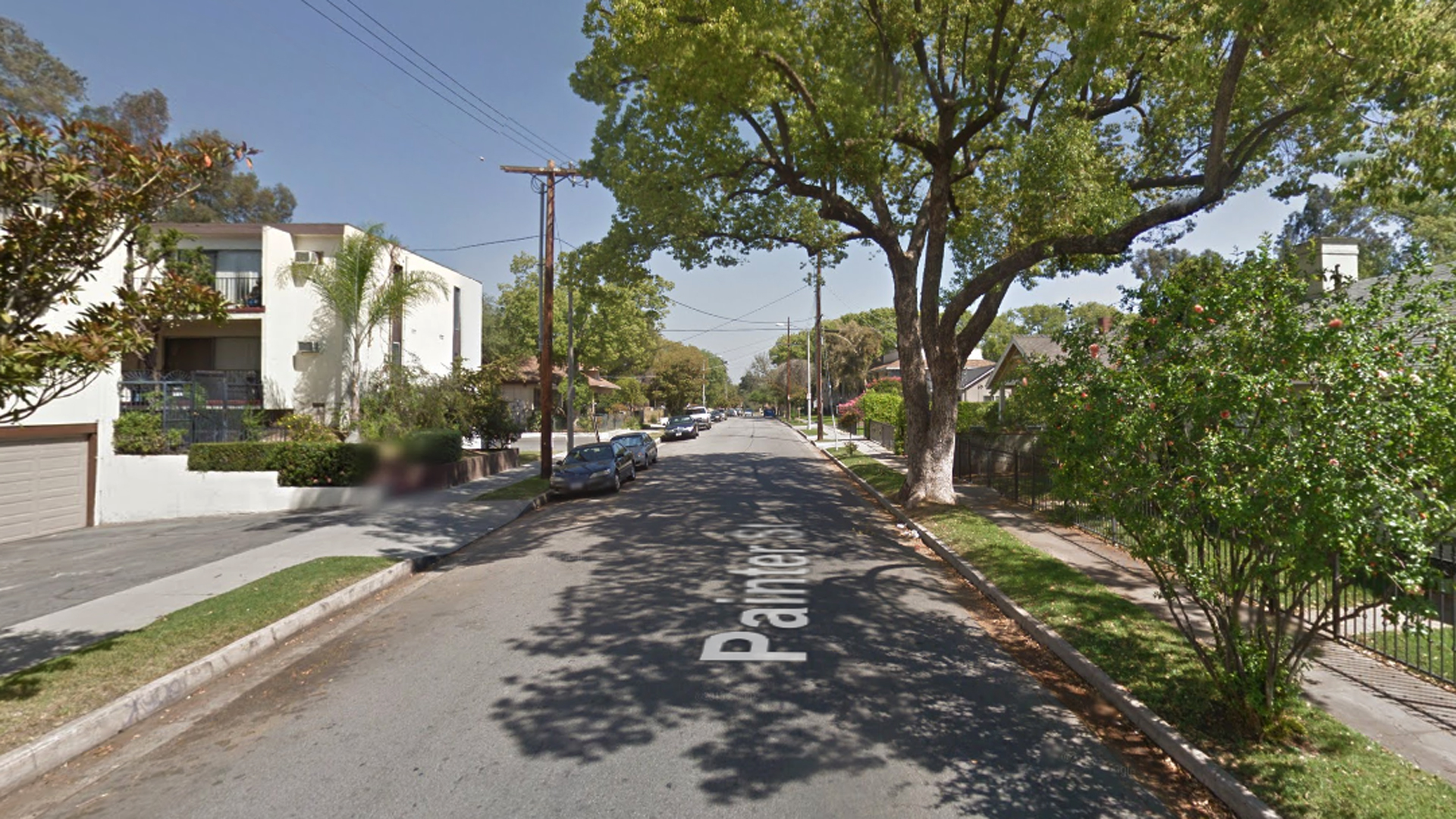 The 100 block of Painter Street in Pasadena, as viewed in a Google Street View image.