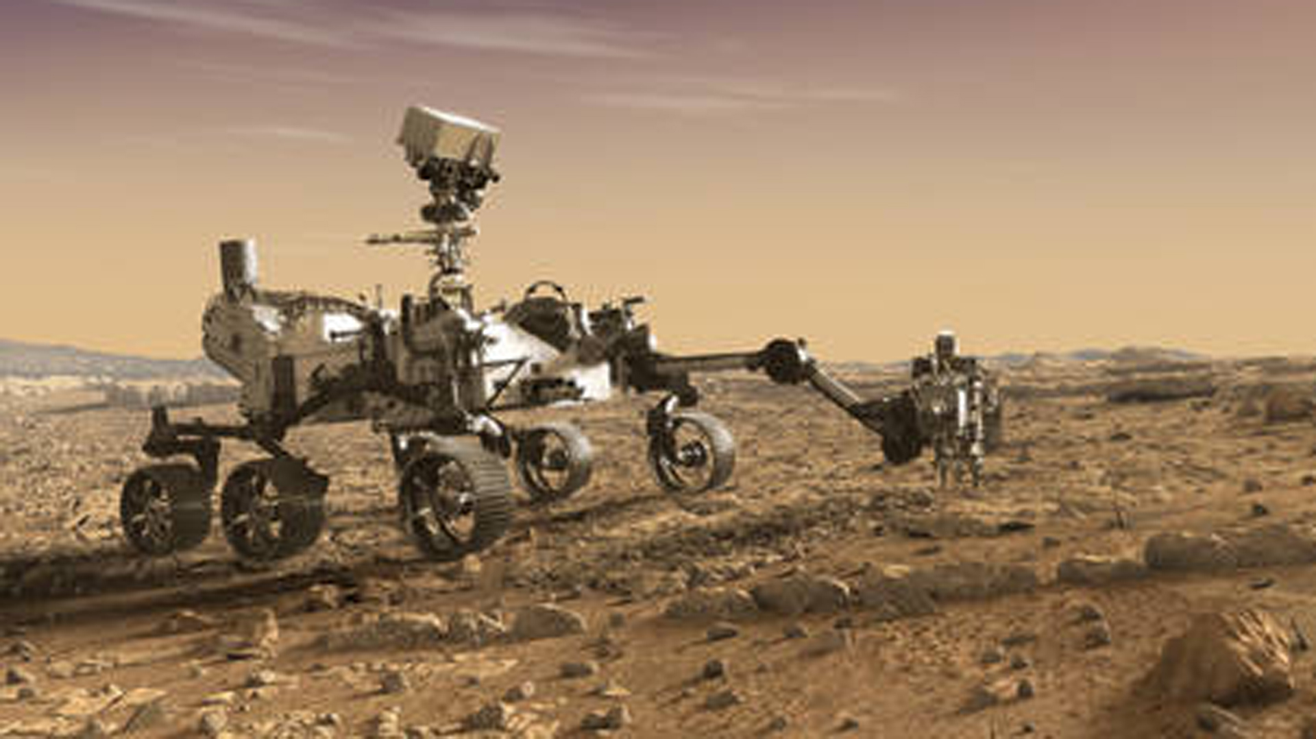 A rendering of what the Mars 2020 rover would look like. (Credit: NASA)