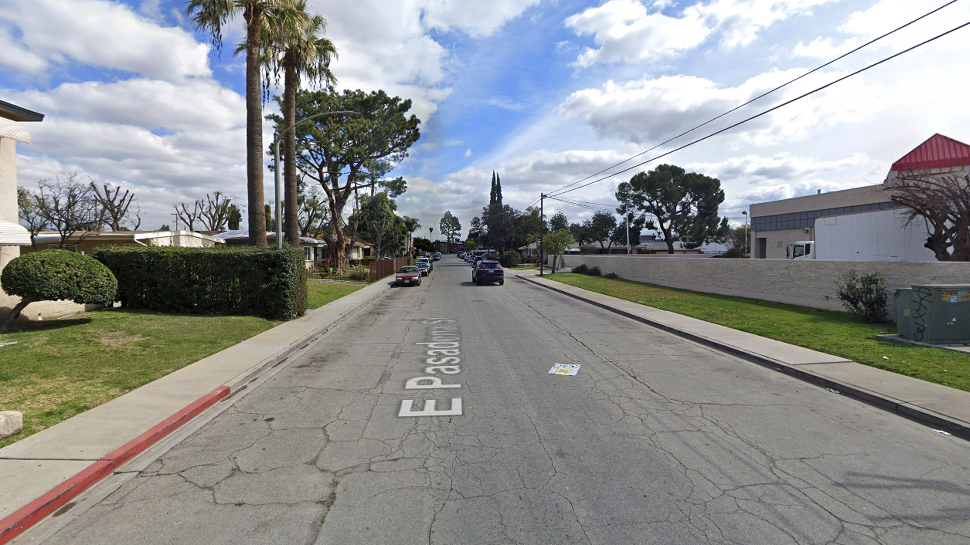 The 1100 block of East Pasadena Avenue in Pomona, as viewed in a Google Street View image.