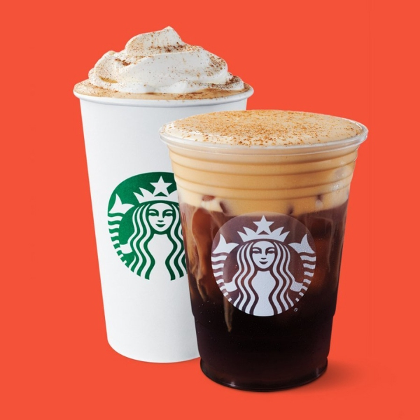 The new pumpkin cream cold brew and fan-favorite pumpkin spice latte will be on the Starbucks menu on Aug. 27, 2019. (Credit: Starbucks)