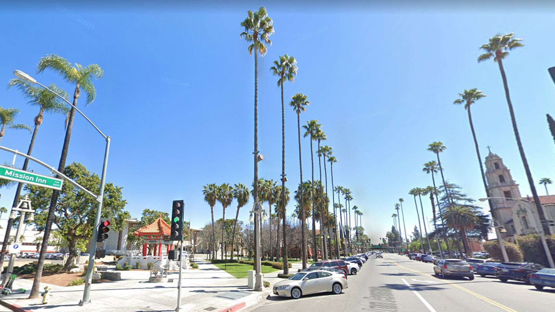 The area of Mission Inn Avenue and Orange Street in Riverside is seen in this undated image from Google Maps.