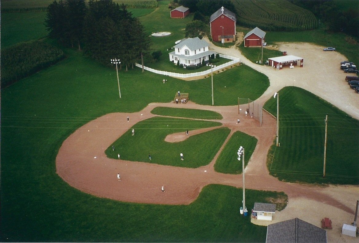 The Field of Dreams movie site is seen in an image provided by CNN Wire.