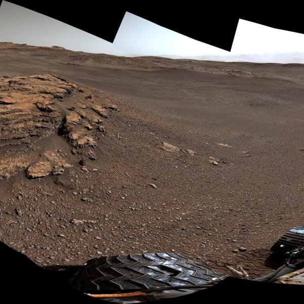 A panorama of Teal Ridge on Mount Sharp is seen in a photo released by NASA/JPL on Aug. 5, 2019.