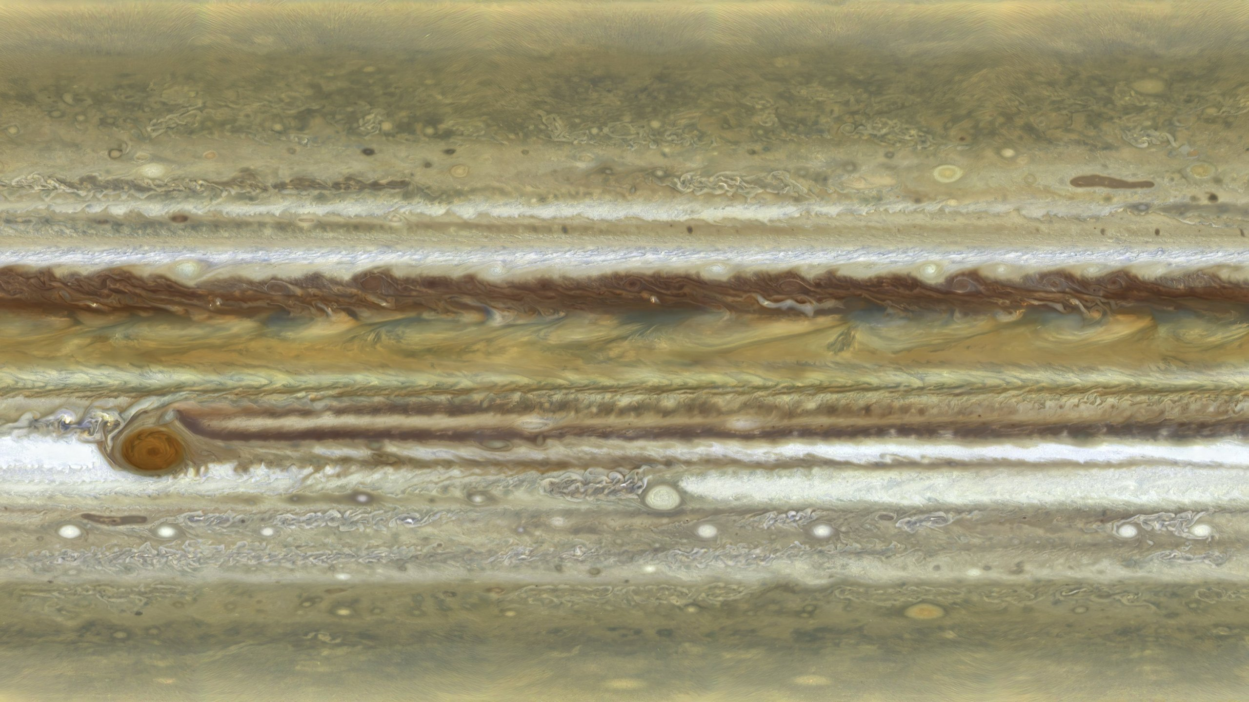 A closer look at Jupiter's clouds and atmosphere. (Credit: A Simon/MH Wong/ESA/Hubble/NASA