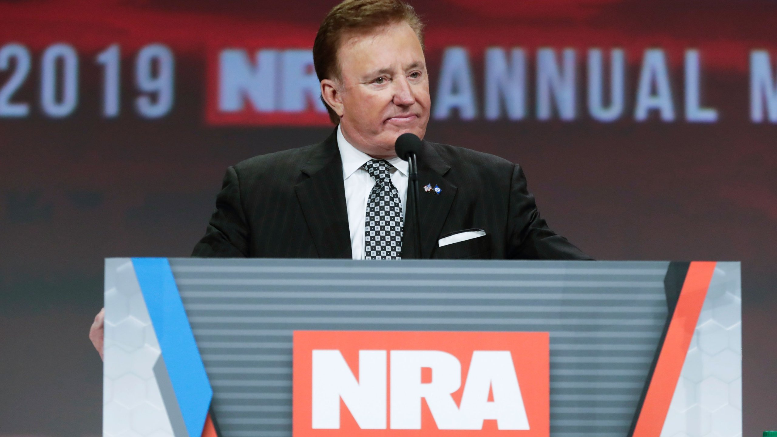 Richard Childress speaks at a National Rifle Association event in this undated photo. (Credit: Michael Conroy/AP via CNN)