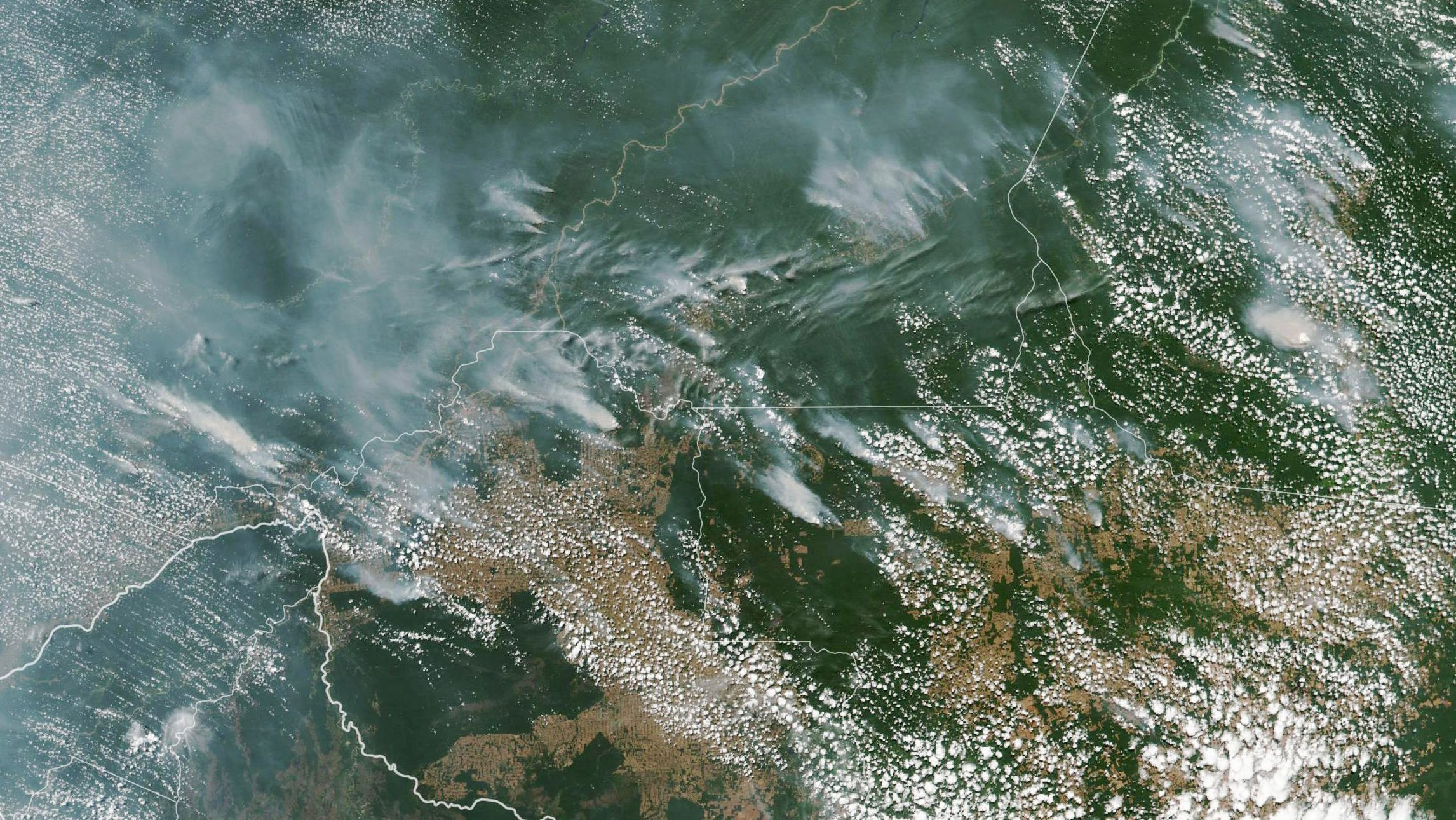 Fires are raging at a record rate in Brazil's Amazon rainforest, and scientists warn it could strike a devastating blow to the fight against climate change. (Credit: National Institute for Space Research via CNN)