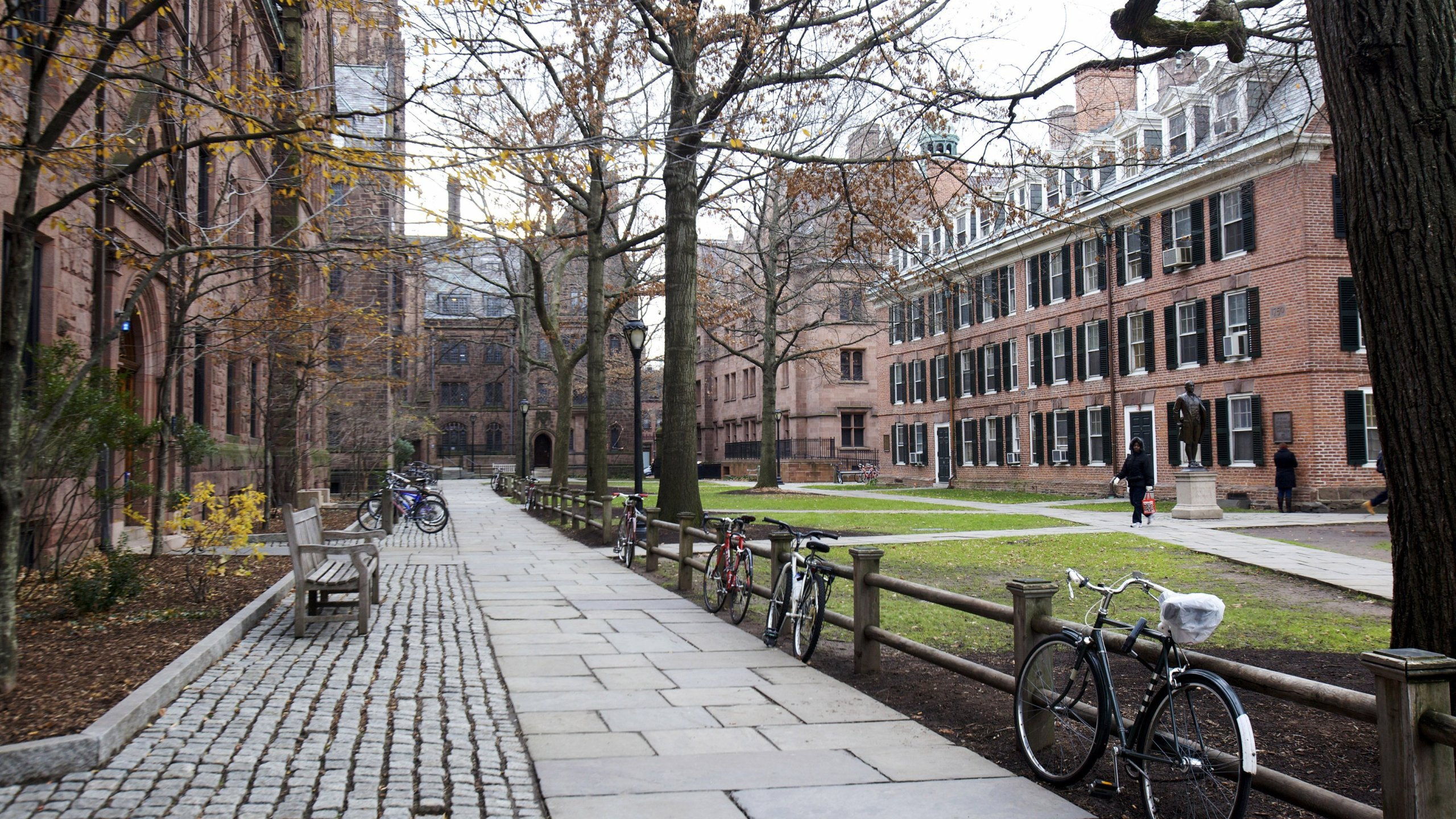 The Yale University campus is seen in an undated photo. (Credit: Michelle McLoughlin/Reuters via CNN)