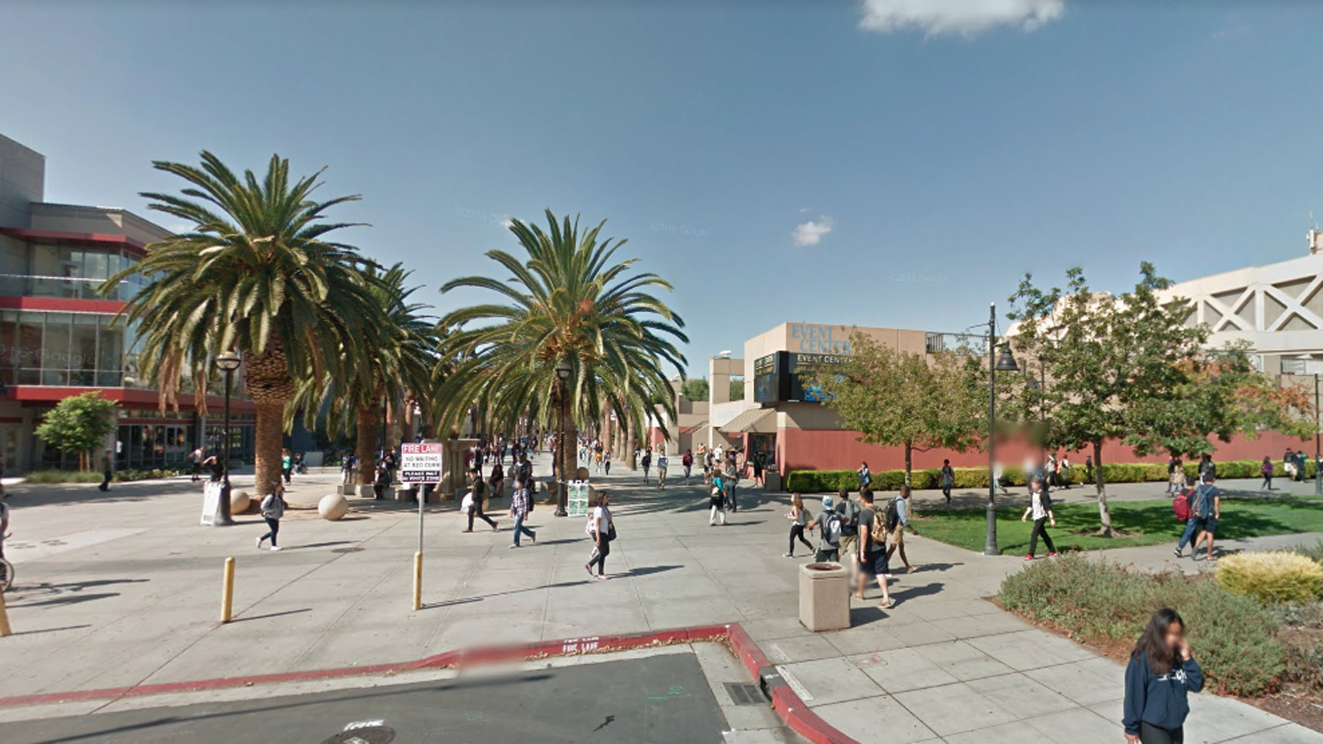 The San Jose State University campus is seen in this Google Maps image.