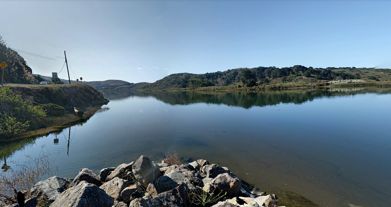 The Russian River at Jenner is seen in a Google Maps Street View image.