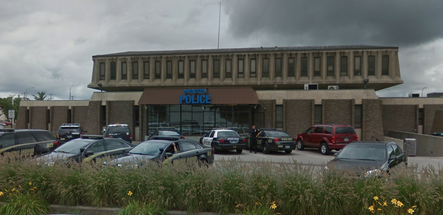 A Muskegon Police Station is seen on Google Maps.