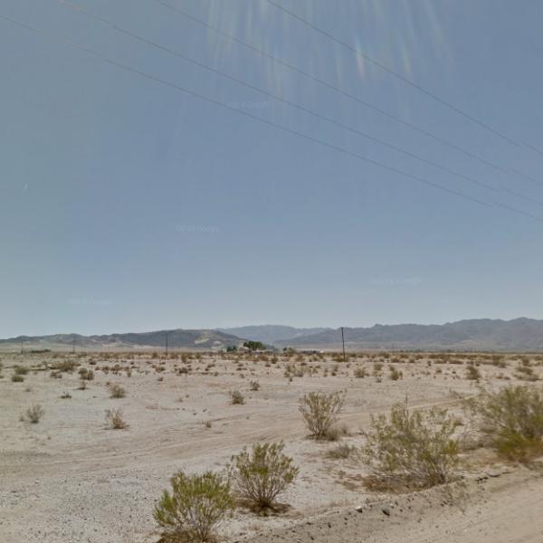 An area in Joshua Tree near Sunway Road is seen in a Google Maps Street View image.