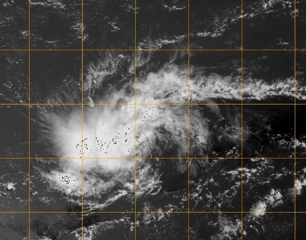 A National Hurricane Center image shows a Tropical Depression forming over the Atlantic.