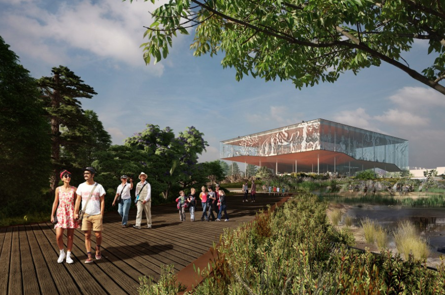 The La Brea Tar Pits released this rendering from Dorte Mandrup on Aug. 26, 2019.