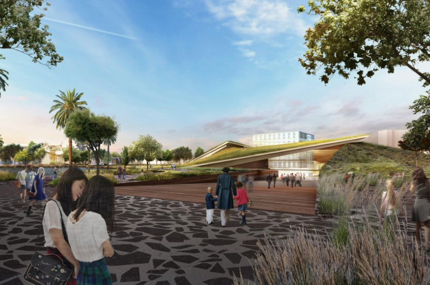 The La Brea Tar Pits released this rendering from Diller Scofidio on Aug. 26, 2019.