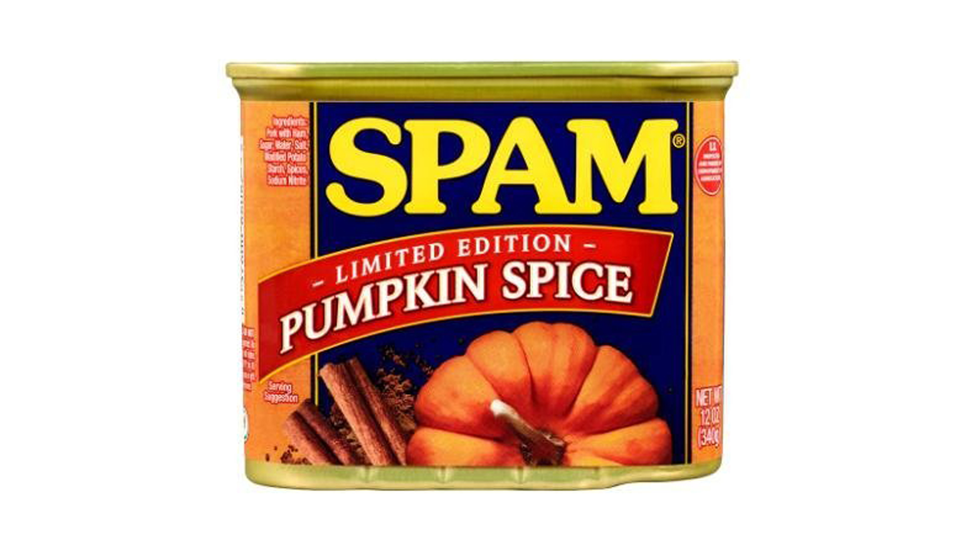 Pumpkin spice spam will be available for purchase at Walmart starting Sept. 23. (Credit: Hormel Foods)
