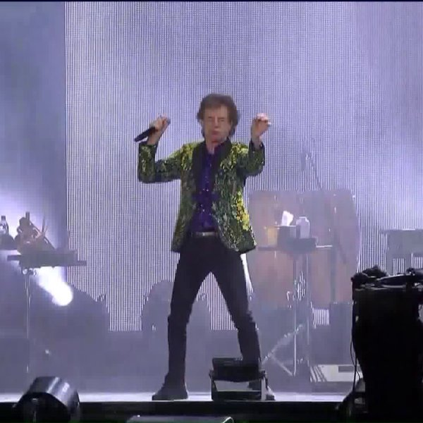 The Rolling Stones perform at the Rose Bowl in Pasadena on Aug. 22, 2019. (Credit: KTLA)