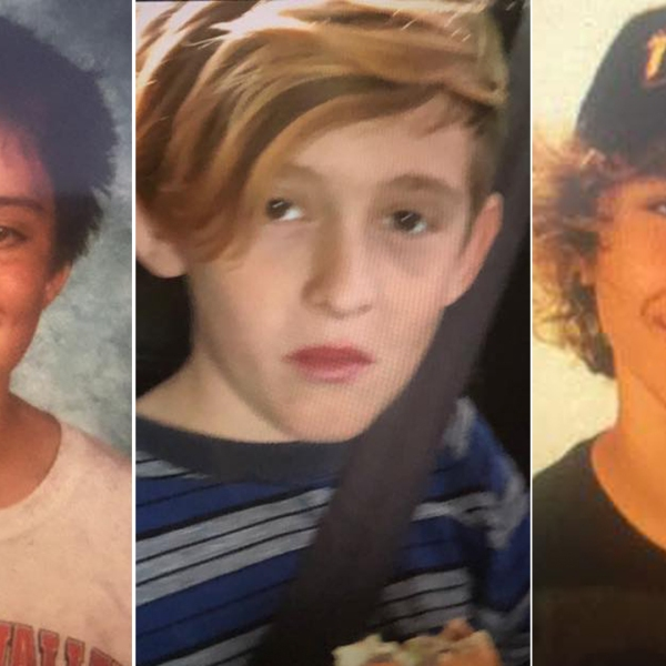 Logan, Dean and Seth appear in photos released by the Riverside County sheriff's Temecula station on Aug. 12, 2019.