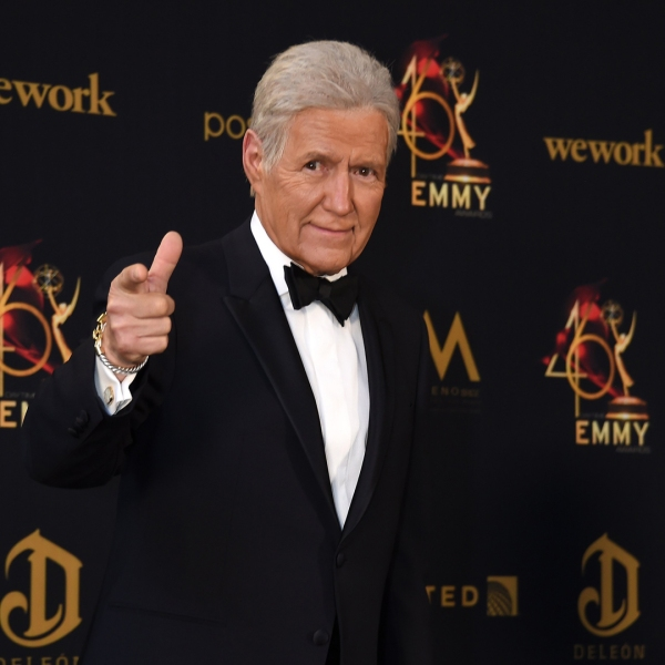 Alex Trebek poses in the press room during the 46th annual Daytime Emmy Awards at Pasadena Civic Center on May 5, 2019. (Credit: Gregg DeGuire/Getty Images)