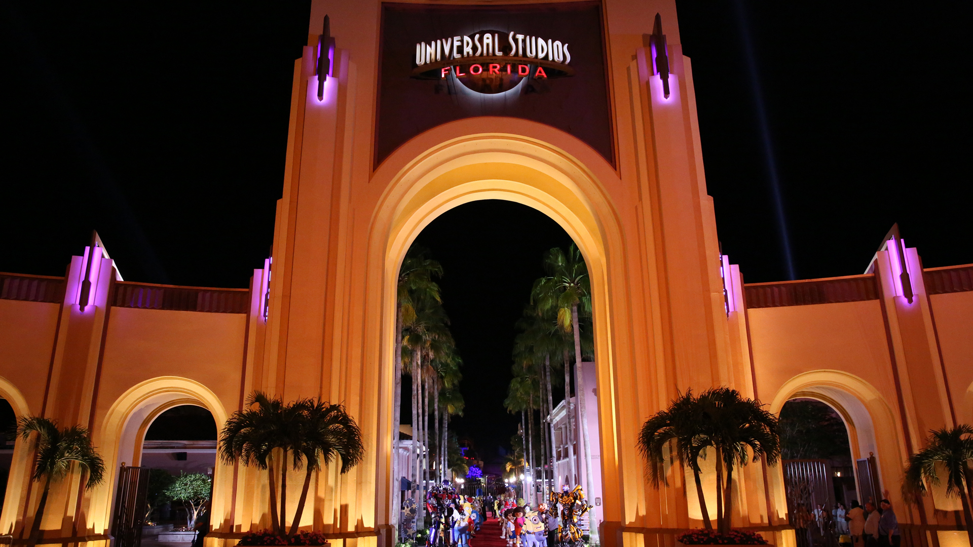 The entrance to Universal Studios in Orlando, Florida is seen in a file photo. (Credit: Douglas Gorenstein/NBC/NBCU Photo Bank via Getty Images)