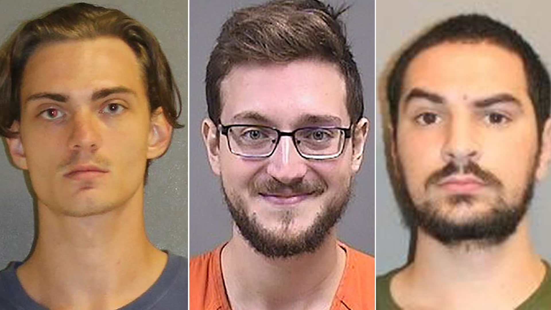 Tristan Scott Wix, James Patrick Reardon and Brandon Wagshol are seen in photos released by local law enforcement agencies.