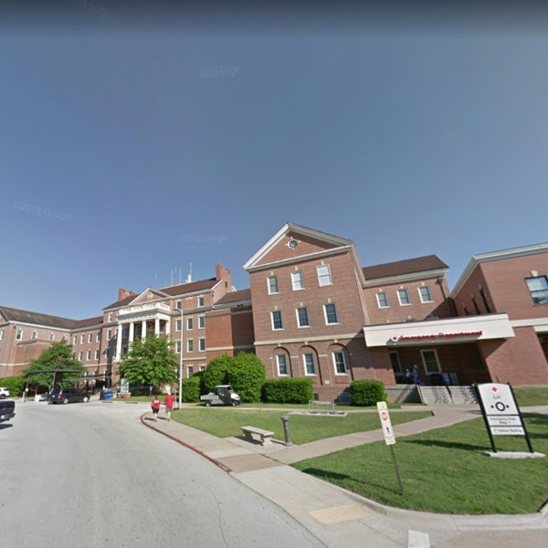 The emergency department of the Veterans Health Care System of the Ozarks in Fayetteville, Ark., is pictured in this undated image from Google Maps.