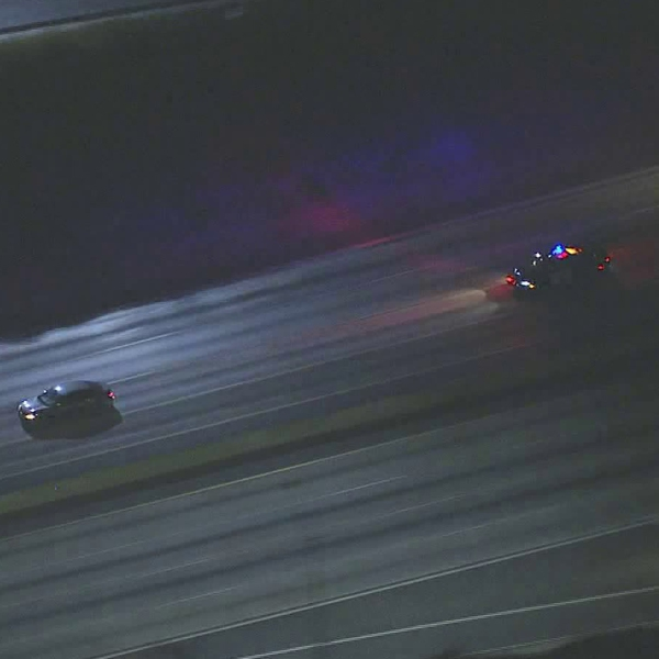 Authorities chase a fleeing driver through the Los Angeles area on Sept. 11, 2019. (Credit: KTLA)