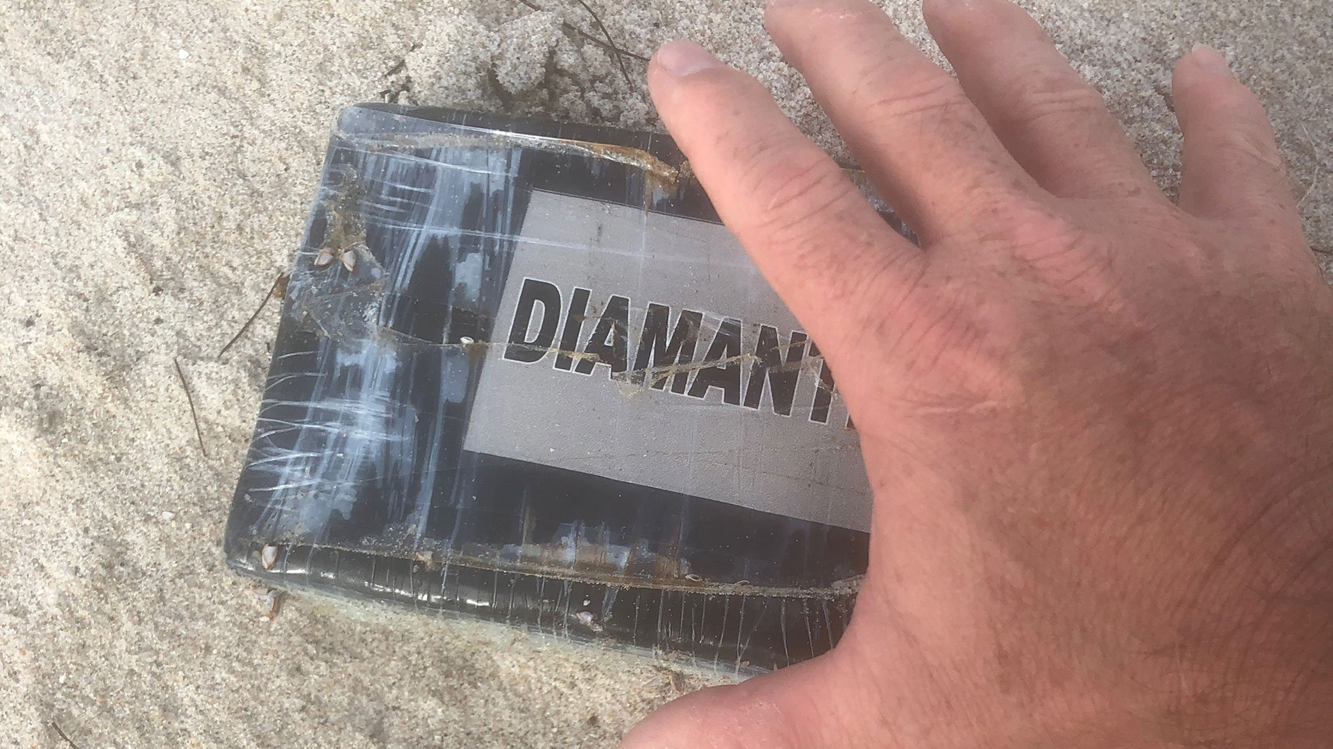 A kilogram of cocaine washed up Tuesday at Florida's Paradise Beach Park. (Credit: Melbourne Police Department)