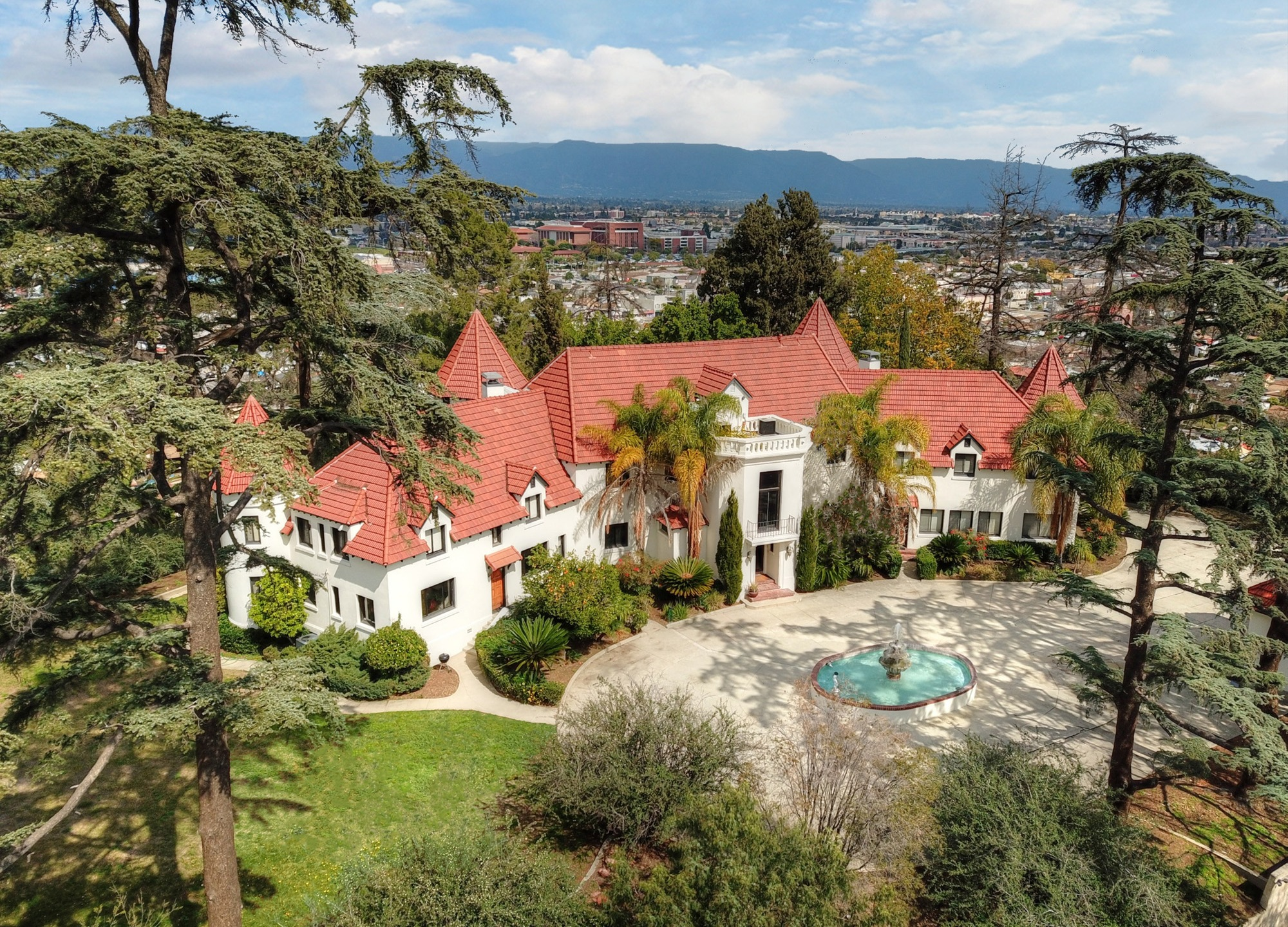 The 1925 mansion in Alhambra known as the Pyrenees Castle is seen in an undated photo. (Credit: Jeremy Spann / thecastleonthehill.com)